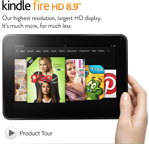 Amazon lança tablet «Kindle Fire HD» de 8,9 polegadas